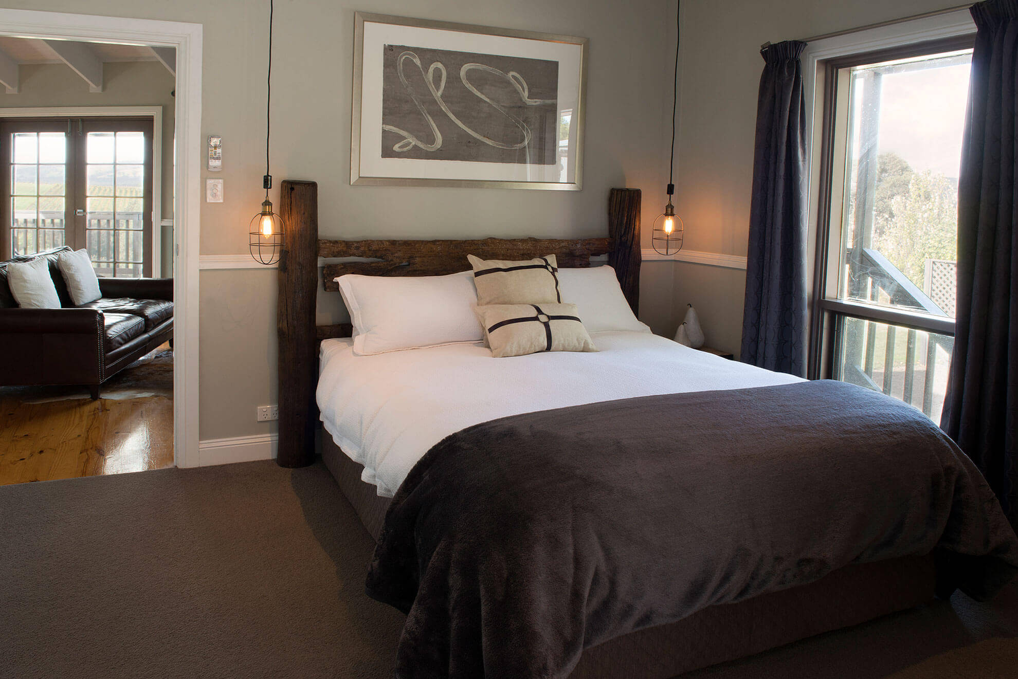 Luxury accomodation bedding McLaren Vale