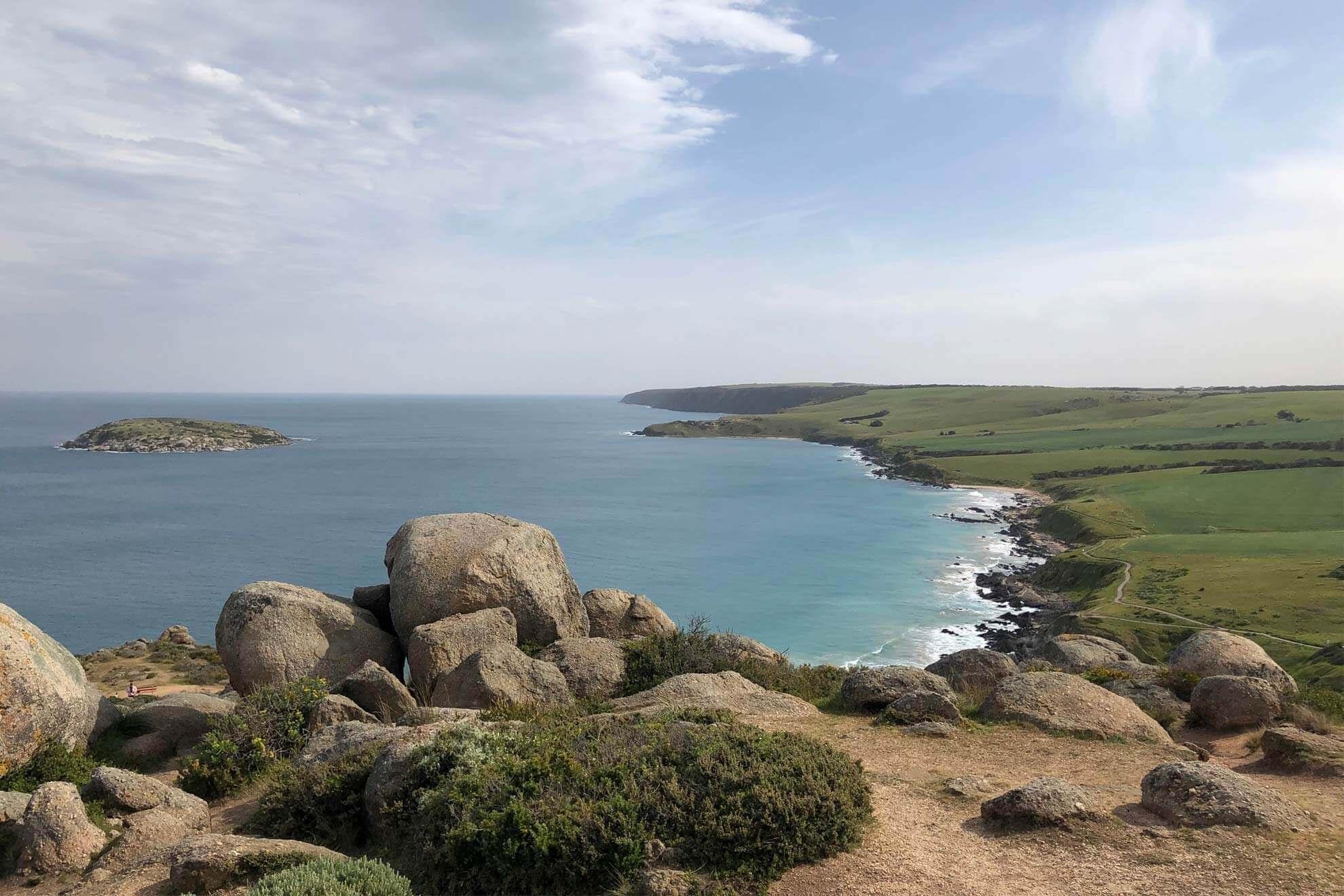 View across the Sea McLaren Vale Coastal Safari Tour