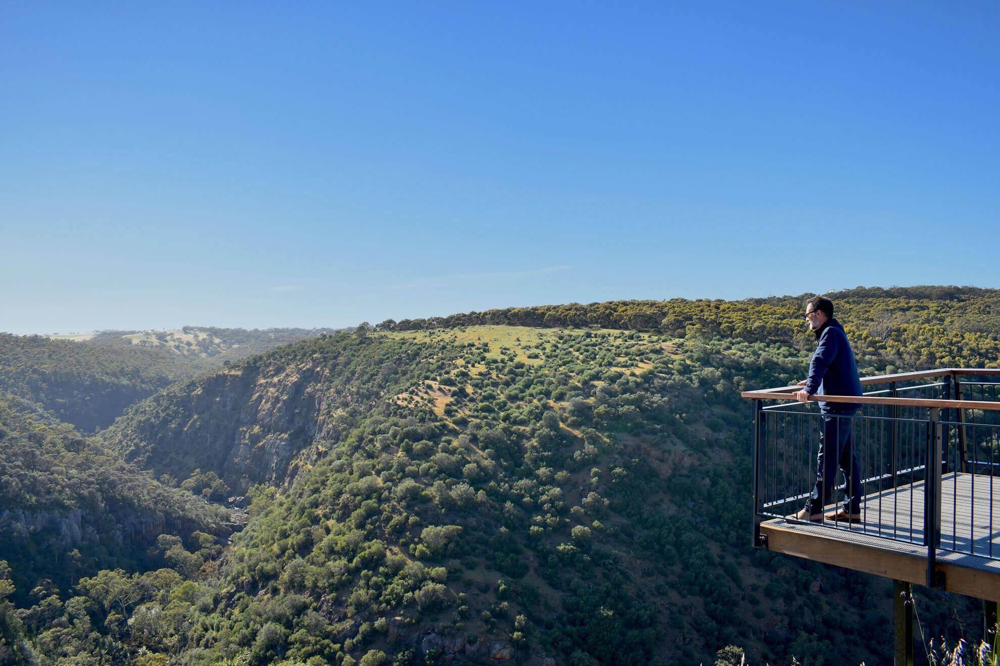 Lookout Onkaprainga Gorge McLaren Vale Coastal Safari Tour