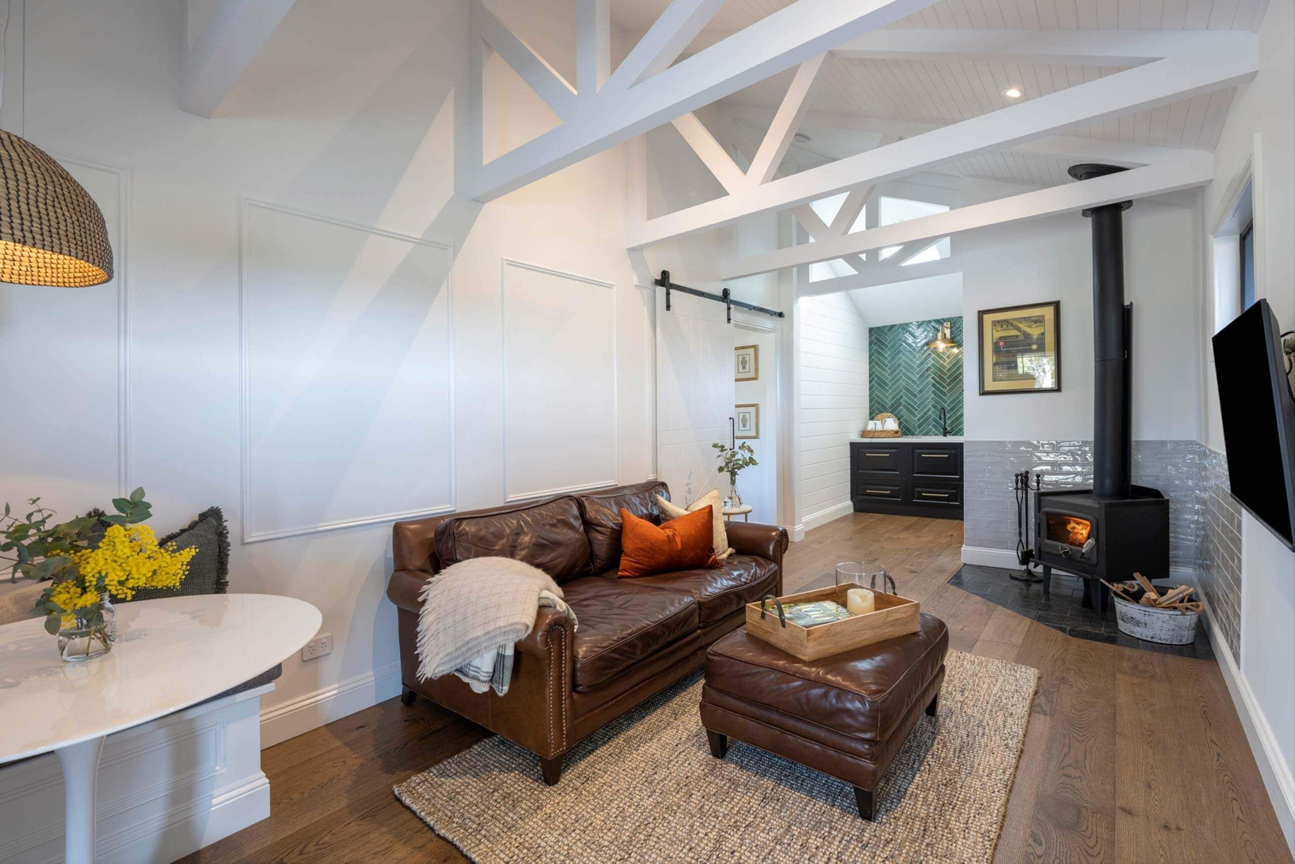 Cosy lounge The Strand The Vineyard Retreat McLaren Vale